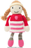 Super Cute Creative Soft Kniited Toy Girl Doll