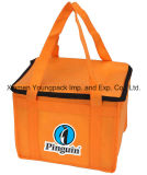 Promotional Custom Orange Non-Woven Fabric Small Cool Bag for Frozen Food