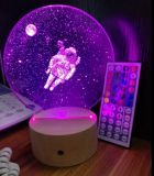 Special Gift 3D LED Night Light, 7 Color Control
