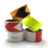 Black Yellow Arrow Reflective Safety Security Tape Strips Stickers