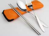 Stainless Steel Travel Flatware Set/Portable Cutlery Set