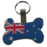 Fashion Custom Cheapest Metal Aluminum Dog Tag with Key Ring