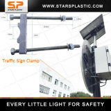 Traffic Road Signs Iron Clamps Hold Hoop