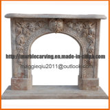 Marble Fireplace Surround Statues Fireplace Mantel Double Fireplace