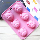 Cattle Shape Food Silicone Rubber Cake Mold for Birthday Party