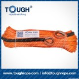 Orange6mmx15m4X4 Synthetic Winch Rope Tough Rope 100% Uhwmpe Fiber