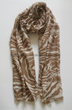 Thin Cotton Classic Zebra Printing Pareo / Lady Scarf (HWBC610)