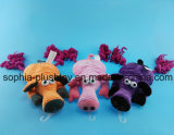 Pet Toy Plush Pig Dog Toy with Rope for Dog to Bite