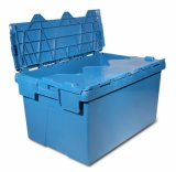 Attached Lid Plastic Tote, Storage Container (PK6040)