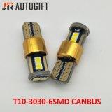New Designed Car Bulbs 194 W5w 3030 6SMD Auto License Plate Light