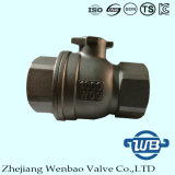 2PC Korea Type Stainless Steel Floating Ball valve with Handle