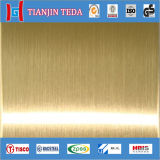 Stainless Steel Gold Brushed Sheet
