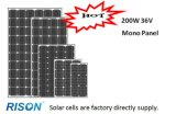 200W, High Effiency Monocrystalline Solar Panel & Solar Cell & Solar Module