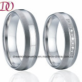 Unique Brushed and Polish Finish 316L Stainless Steel Lover Rings