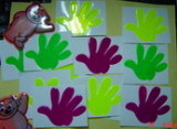 Reflective Fluorescent Hand Sticker/Reflective Label