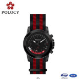 Nato Strap Watch Stainless Steel Case Fabric Nylon Band Auto Date Quartz Watch