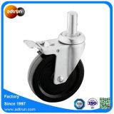 125mm Round Stem Solid Rubber Industrial Wheel