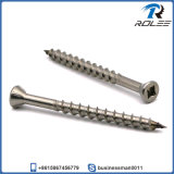 Stainless Steel Trim Head Square Drive Deck Screw with Nibs