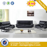 Brown Color Leather Combination 1+1+3 Sets Office Sofa (UL-NCS414)