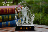 Fashion Competition Golfball Crystal Trophy for Match Honor