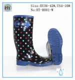 Women Rubber Rain Boots, Printing Rubber Boots, Boot