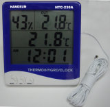 Newest Indoor/Outdoor Thermometer With Humidity & Clock (HTC-230A)