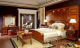 0029 Italian Royal Wooden Furniture Style Luxury Brass Decoration Bedroom Set Furniture