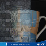 3-6mm Clear Woven Patterned Glass with CE&ISO9001