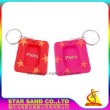 Nice Decorative PVC Cheap Mini Magnetic Photo Frames with Keychain