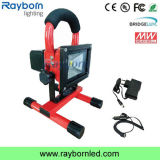 Portable Cordless 10W Emergency Rechargeable LED Flood Light for Building
