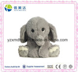 "9"" Promotional Sitting Lovely Grey Elephant Plush Fluffy Toy"