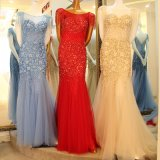 Cap Sleeves Party Prom Dresses Customized Beading Evening Gowns E16831