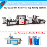 Non Woven Online Vest Bag Making Machine with Creasing