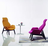 Upholstered Armrest Living Room Designer Lounge Chair