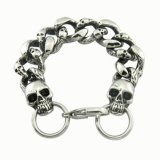 Surgical Steel Men's Skull Bangles