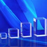 Chamfer Beveled Etched Rectangular Laser Glass Cube, Crystal Block