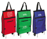 Portable Folding Trolley Bag with PP Wheels