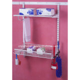 Wall Mounted Cleaning Products Organizer Rack (LJ1006)