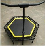 50 Inch Four Fold up Cardio Exercise Trampoline with Adjustable T Bar Handle