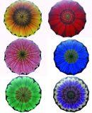 Sunflower Design Heat Transfer Printing Double Layers Straight Umbrella (SU025-2)