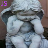 White Little Angel Statue Sculpture for Memorial Decoration