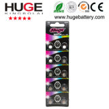 1.55V 10% Silver Content Silver Oxide Button Cell Battery (377)