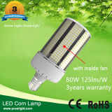 E40 80W LED Corn Light, E39 125lm/W LED Corn Lighting, 100-300V Corn LED Lamp 80W