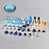 Blue Button Pneumatic Low-End Brass Fitting (PC 8-02)