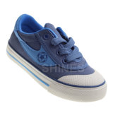 Blue Canvas Vulcanized with Toe Cap for Boy