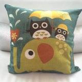Fashion Transfer Printed Cushion 70%P+30%C Transfer Printed Owl Pillow (LPL-141)