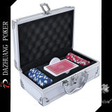 Poker Chip Set for 50 Chips and One Deck Playing Card