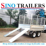 Economic Hot Dipped Galvanized Farm Used Hydraulic Tipper Trailer