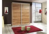 Modern Design High Quality Wooden Wardrobe with Sliding Door (HF-EY080104)