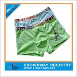 Mixed Color Boys Cotton Boxers Shorts/Underwear with Logo